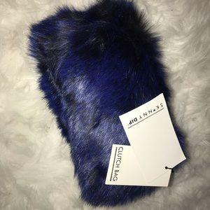 Skinnydip Faux Fur Box Crossbody Clutch Bag